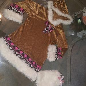 """Igloo Cutie"". Childs Eskimo girl dress"